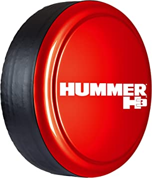 Hard Plastic Face /& Fabric Vinyl Band 33 Rigid Tire Cover Hummer H3 Logo