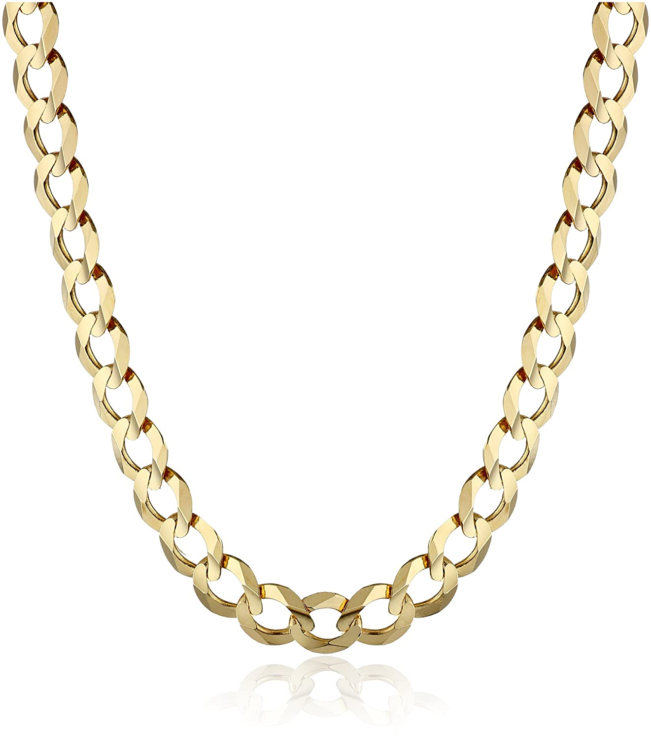 jewelry davieslee filled gold curb necklace wear cut party daily womens mens cuban chain products