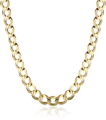 Men's 14k Gold 5 7mm Cuban Chain Necklace