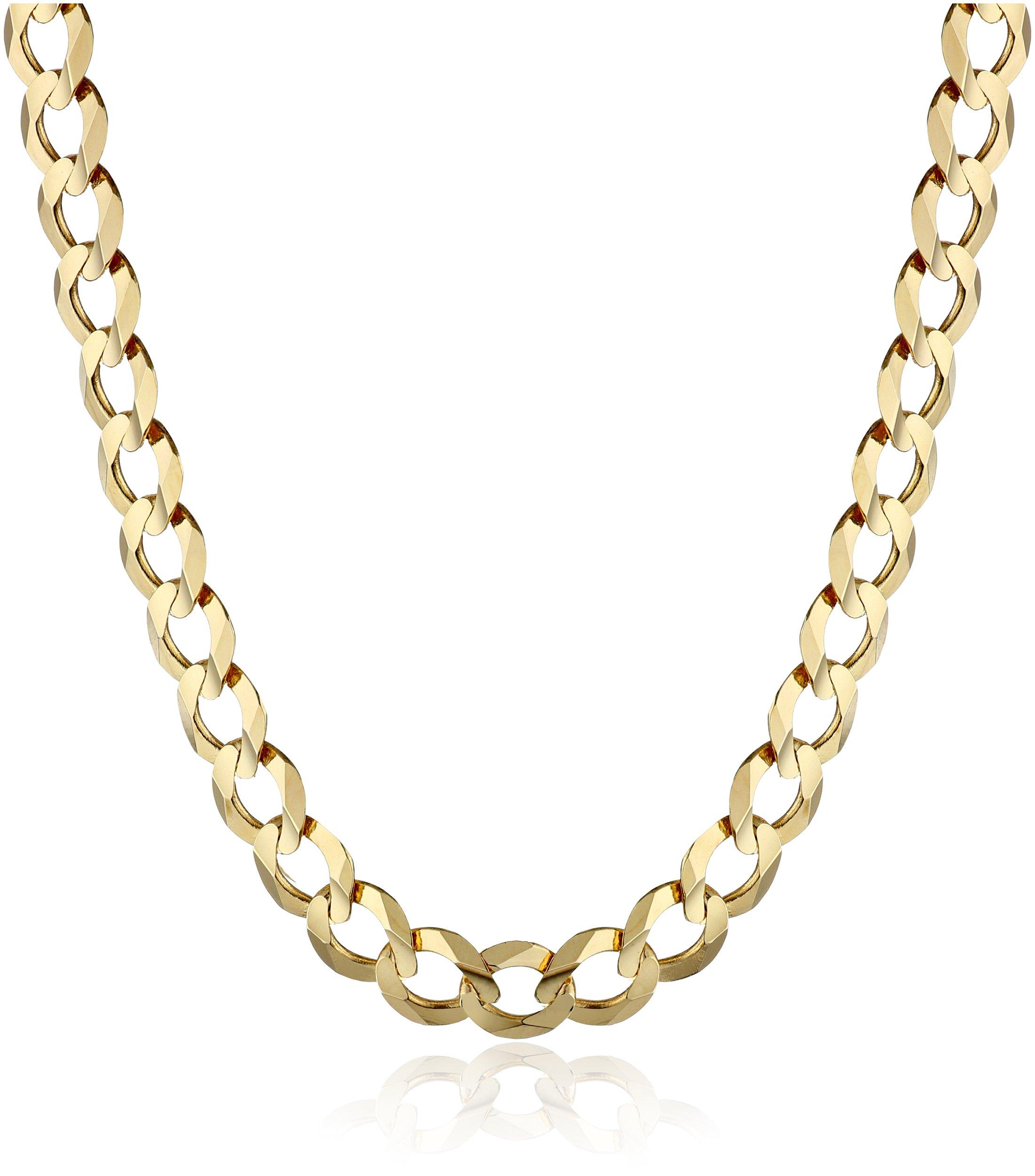 Men's 14k Yellow Gold 5.7mm Cuban Chain Necklace, 22''