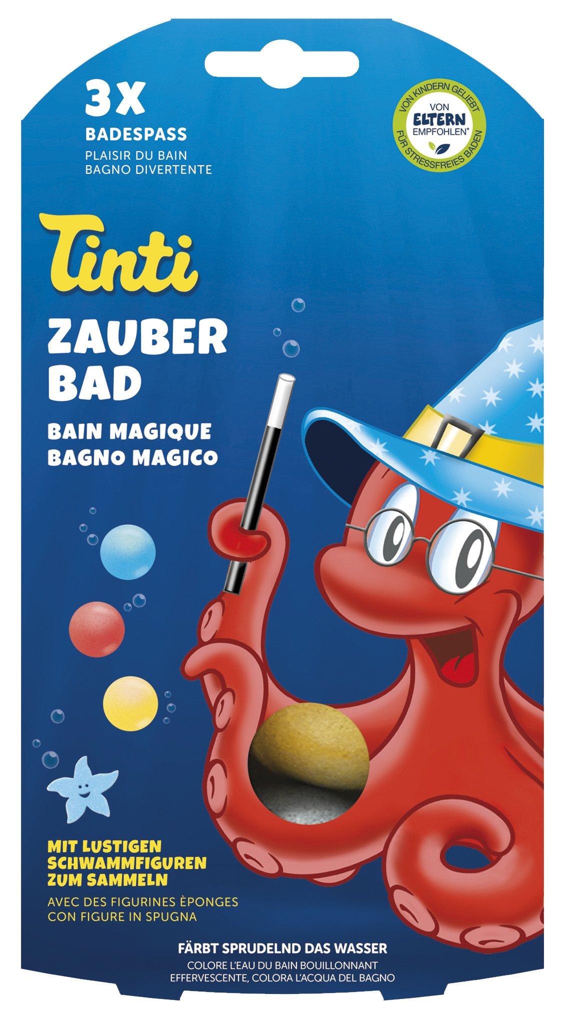 Tinti 520153 - Zauberbad 3-Pack (bolas de baño en rojo, azul,
