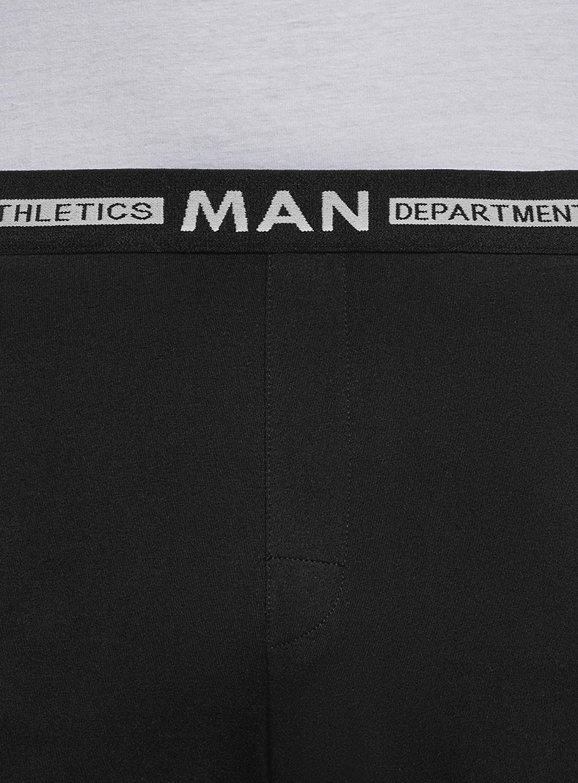 oodji Ultra Hombre Pantalones Cortos de Algod/ón de Estar por Casa