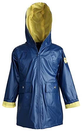 f191fd9c1 Image Unavailable. Image not available for. Color: Wippette Baby Boys  Waterproof Vinyl Fully Lined Solid Hooded Raincoat Jacket ...