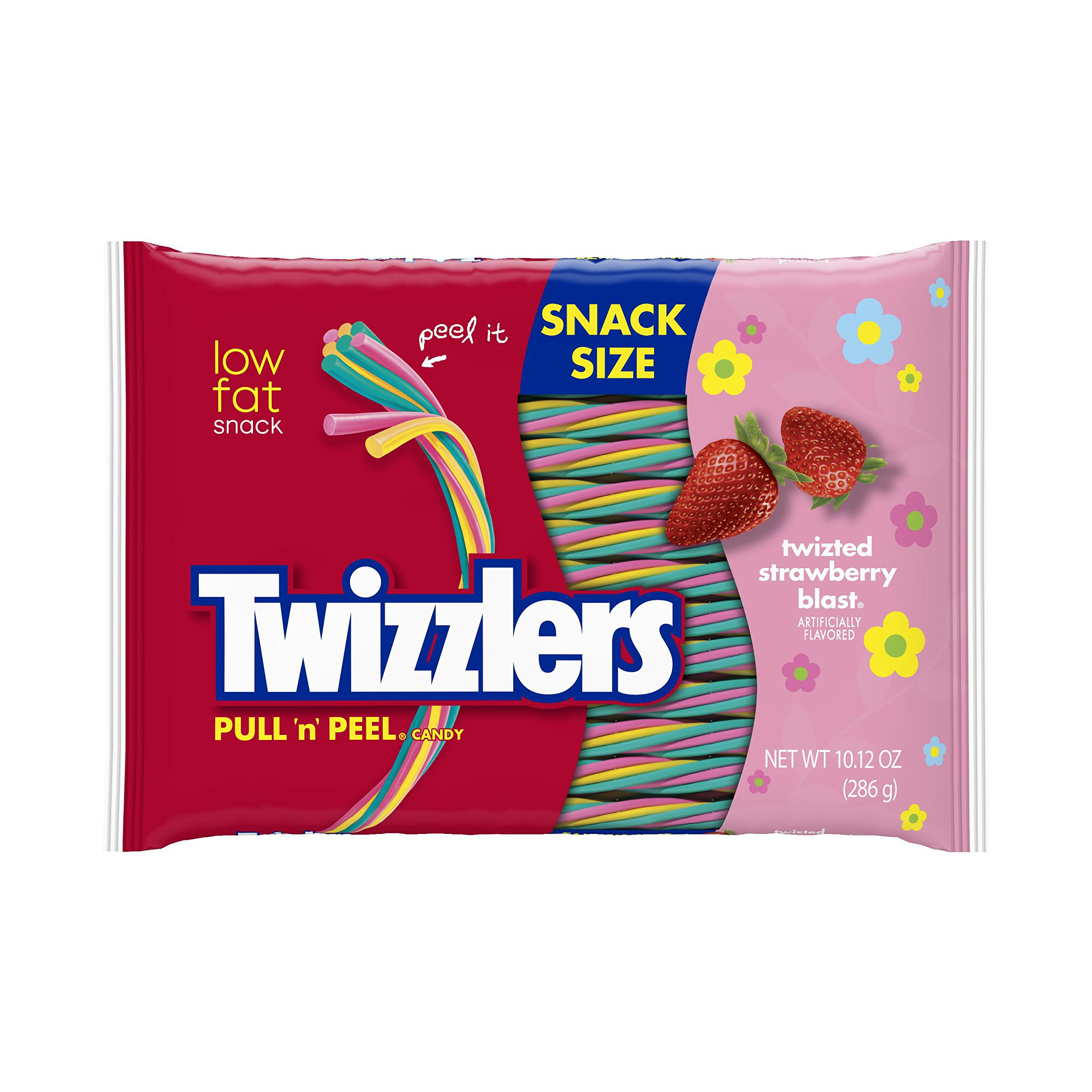 TWIZZLERS PULL 'N' PEEL Easter Snack Size Candy, TWIZTED Strawberry Blast Flavored , 10.12 Ounce Bag (Pack of 6)