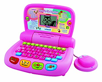 Amazon Com Vtech Tote And Go Laptop Pink 2010 Version Toys Games