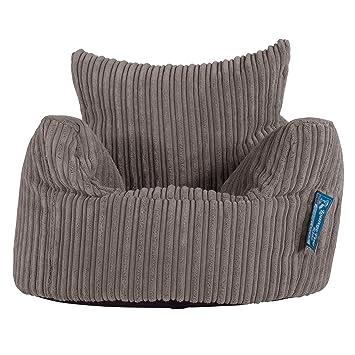 Lounge Pug®, Puff Sillón para niños, Pana Clásica - Grafito ...