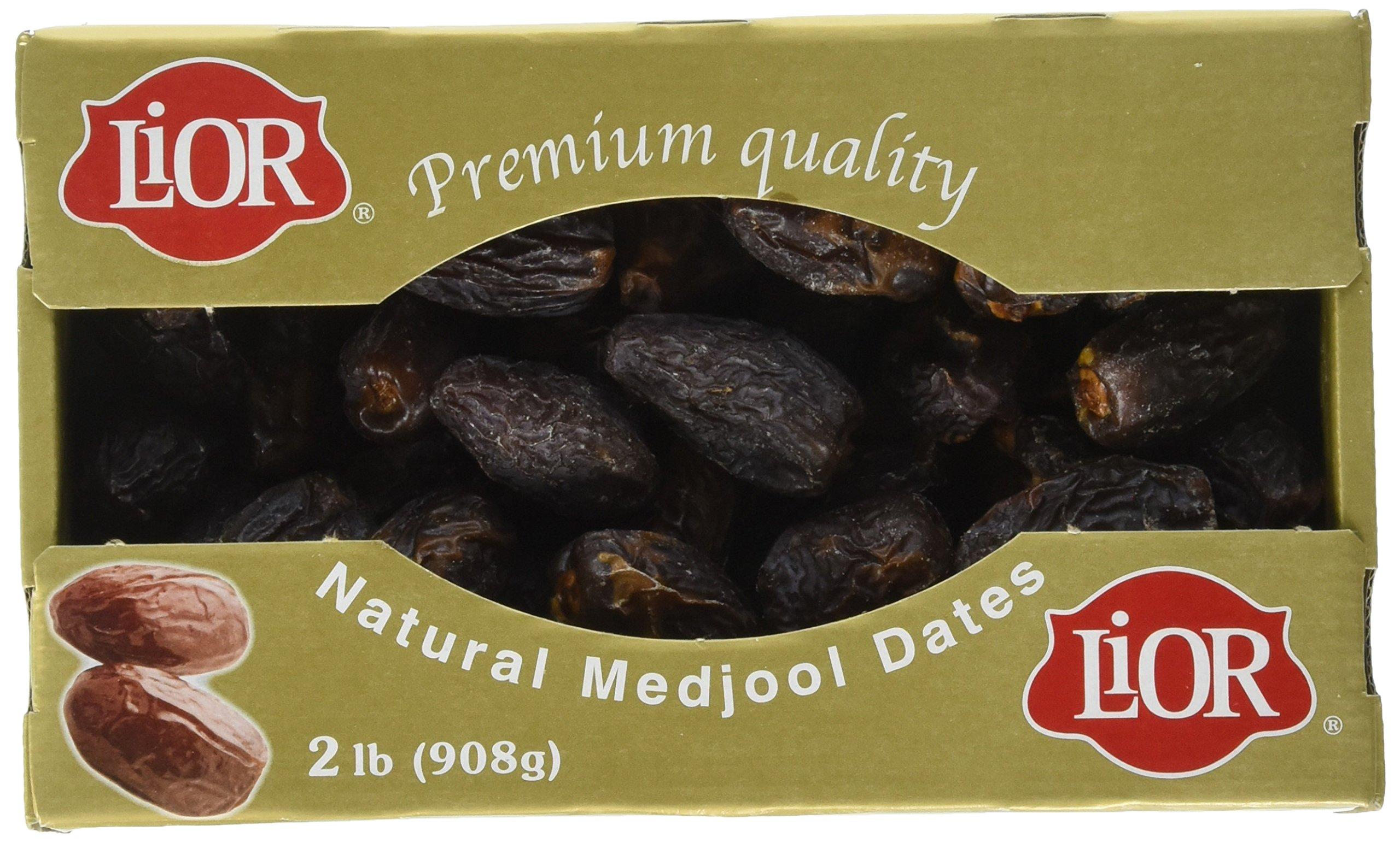 Lior Premium Medjool Dates Gold Box, 2 Pound
