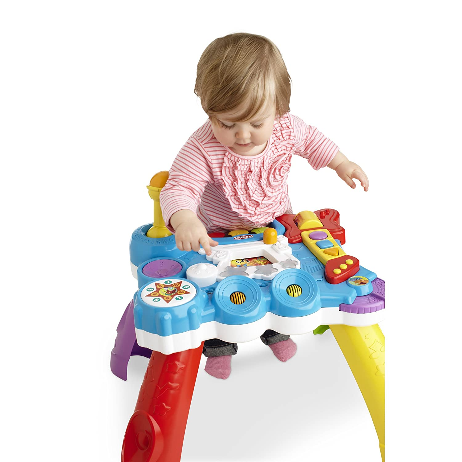 Amazon Playskool Rocktivity Sit To Stand Music Skool Toy