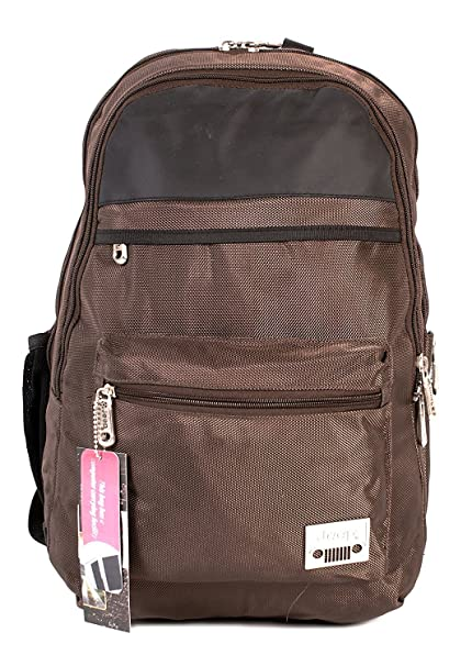 f8b0a698bb PH-1444 Brown Jeep Laptop Backpack - Polyester Medium School Outdoor Bag:  Amazon.co.uk: Luggage