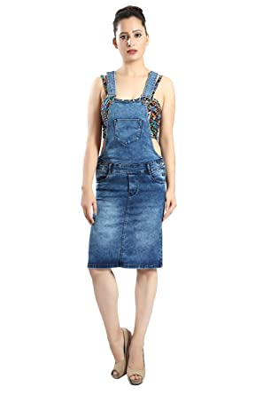 durable modeling official discount FCK-3 Women's Pencil Fit Stretchable Denim Skirt Dungaree ...