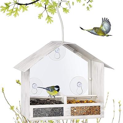 BOLITE 18020 Bird Feeder 2-Way Feeders Window Bird Feeder
