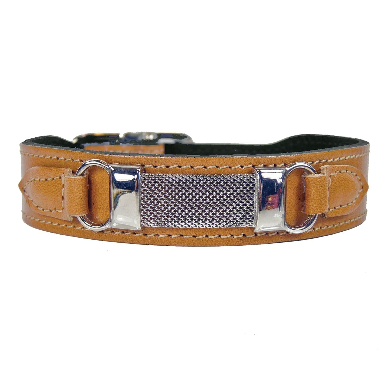Hartman & pink 3478 Barclay Dog Collar, 14 to 16-Inch, Tan