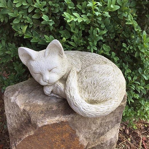 Antikas - Escultura Gato Durmiente - Animal decoración para el ...