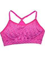Ideology Womens Space-dyed Sports Bra Pink Space Dye (Med 34a-c-36a-b)