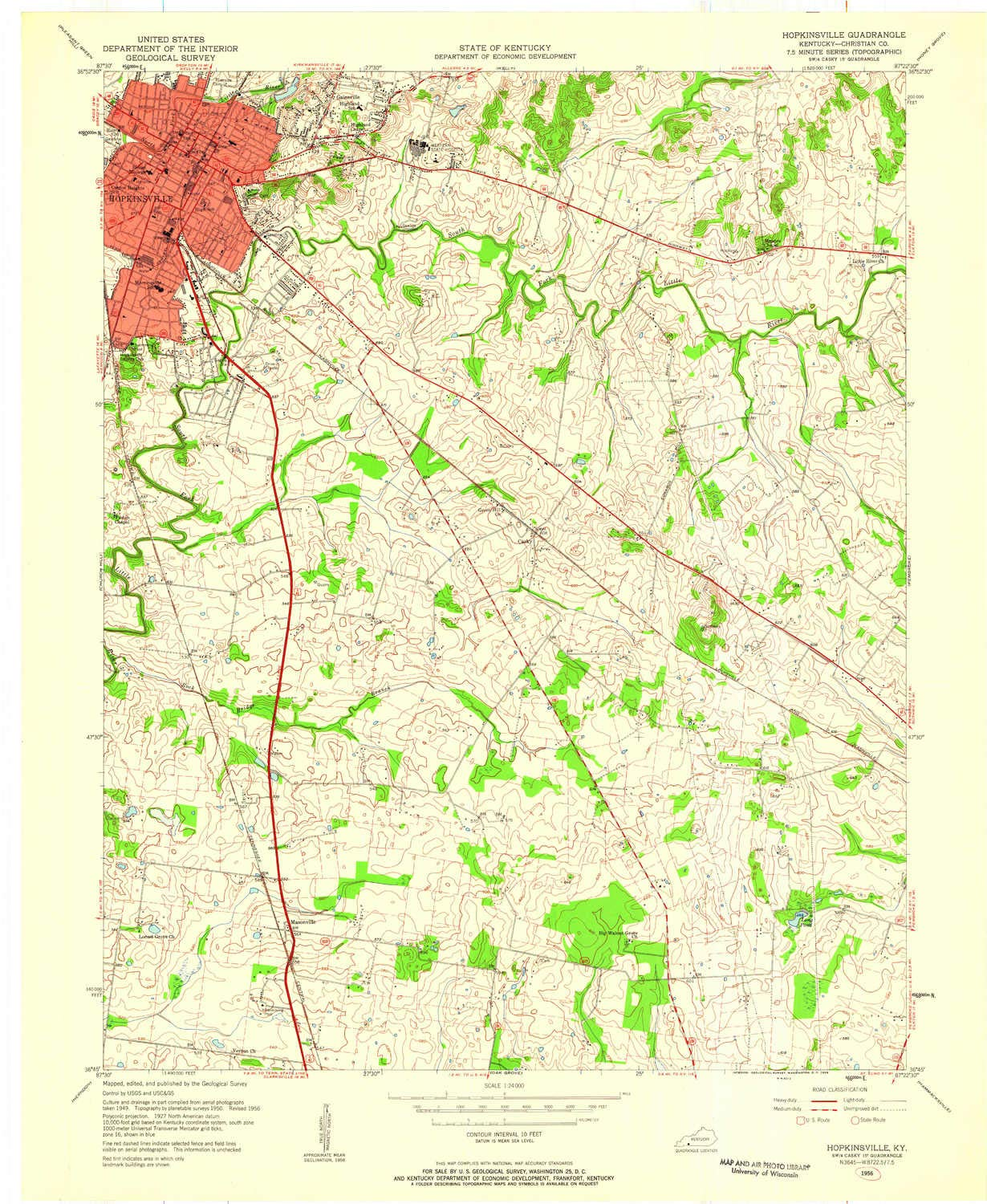 Amazon com : YellowMaps Hopkinsville KY topo map, 1:24000 Scale, 7 5