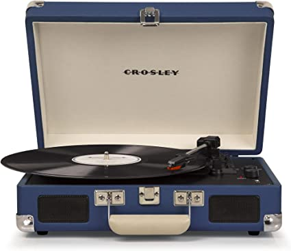 Crosley - Tocadiscos Crosley C8005D Azul - Tocadiscos Portátil ...