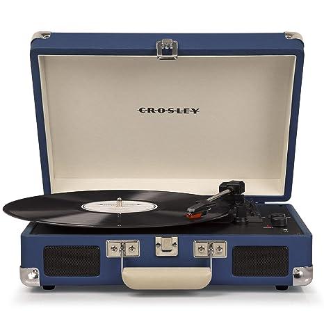 Crosley - Tocadiscos Crosley C8005D Azul - Tocadiscos Portátil - Mejor Precio