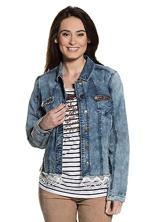 Jeansjacke mit applikationen
