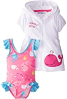 Wippette Baby-Girls Newborn Whaley Love You Cover-Up Set