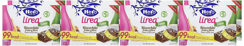 Hero Muesly Línea Bizcochito Fruta y Fibra - 8 Paquetes de 6 x 32.50 gr - Total: 1560 gr