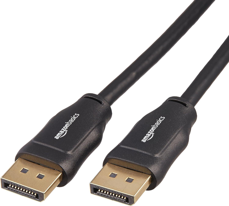 AmazonBasics DisplayPort to DisplayPort Computer Cable - 6 Feet,10-Pack