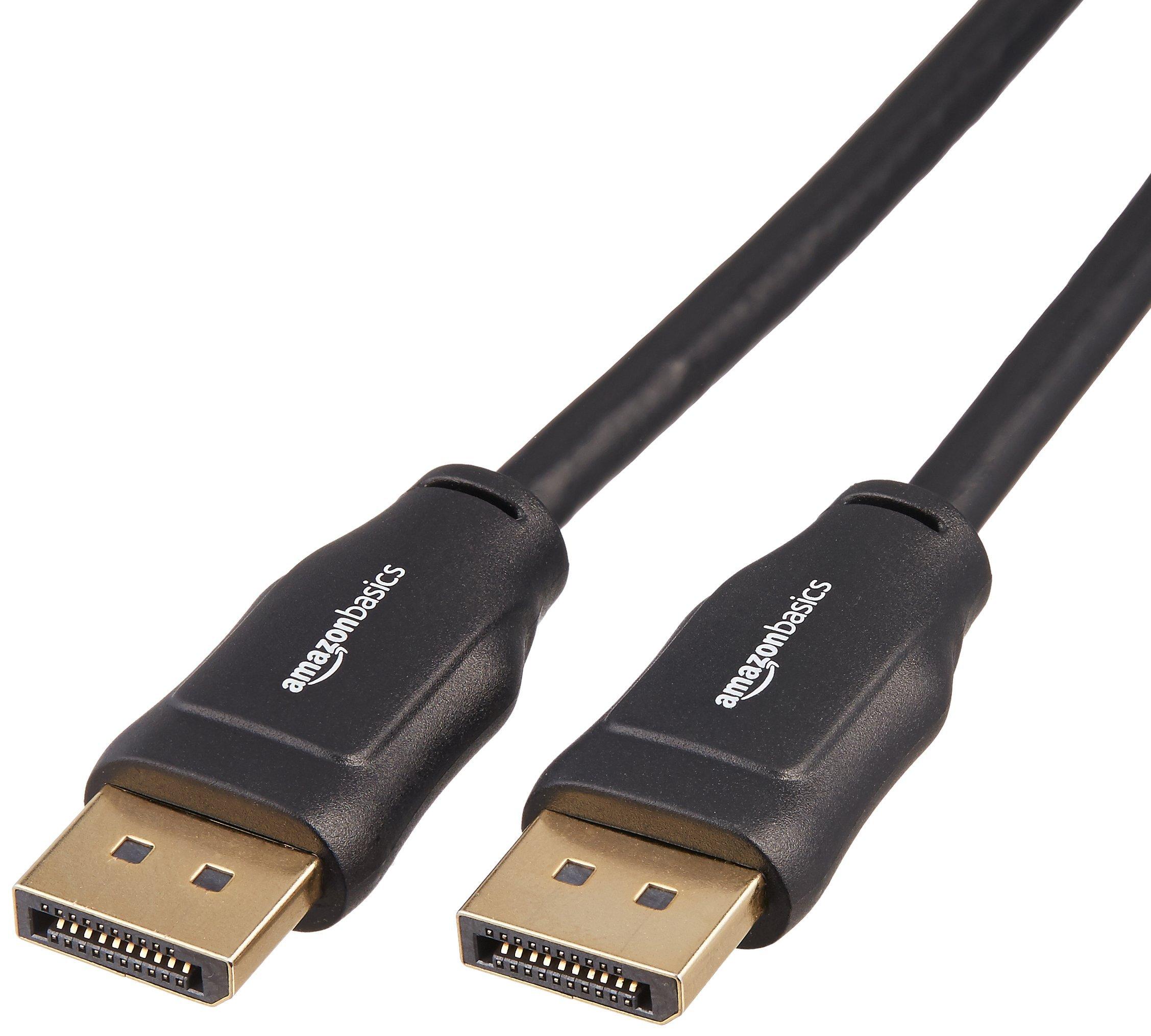 AmazonBasics DisplayPort to DisplayPort Cable - 6 Feet
