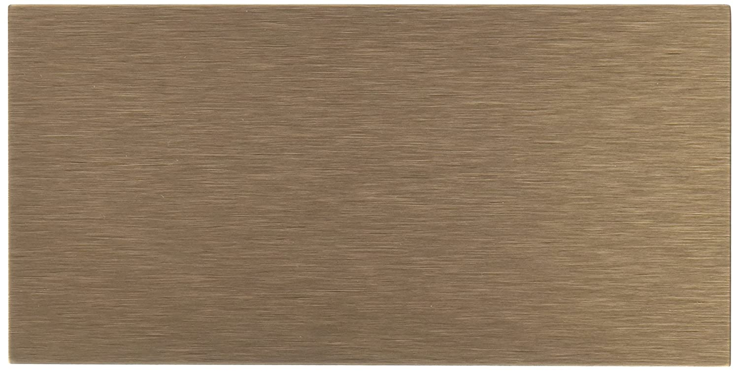 Art3d 4-Piece Peel-N-Stick Backsplash Long Grain Metal Tile, 3 x 6, Brushed Copper 3 x 6 FBA_A16022P4