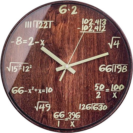 Amazon Com Bew Night Light Wall Clocks Math Physics Formula