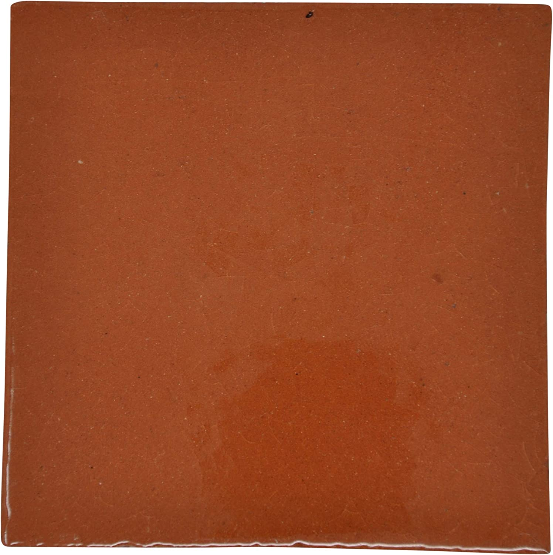 fait /à la main et /éthiquement n/égoci/é par Tumia LAC Lot de 10 10,5 cm Carrelage en c/éramique mexicaine