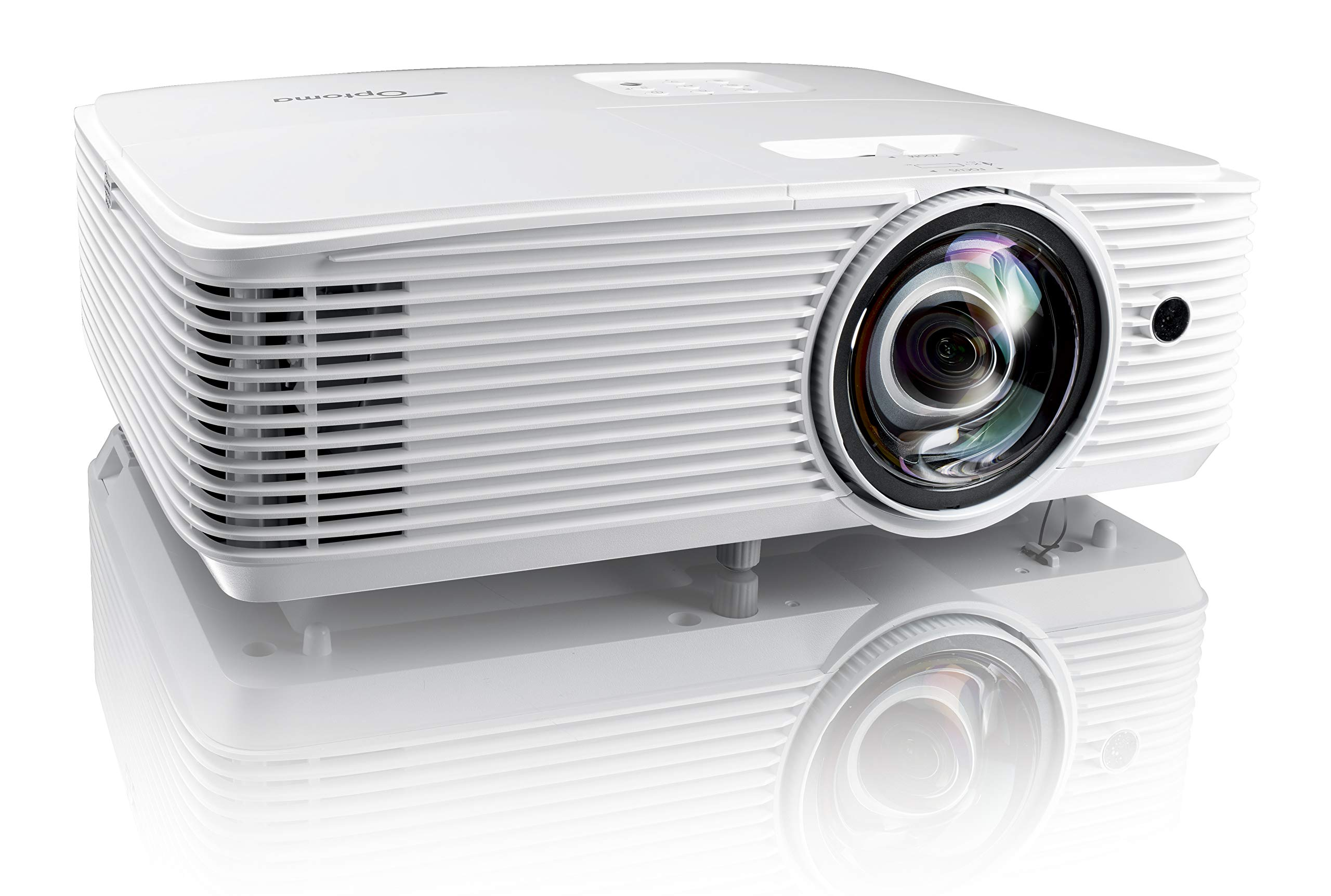 Optoma EH412ST Short Throw 1080P DLP Professional Projector | Super Bright 4000 Lumens | Business Presentations, Classrooms, or Meeting Rooms | 15,000 hour lamp life | Speaker Built In | Portable Size by Optoma (Image #1)
