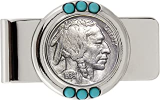 product image for Smithsonian Institution Buffalo Nickel Turquoise Coin Money Clip