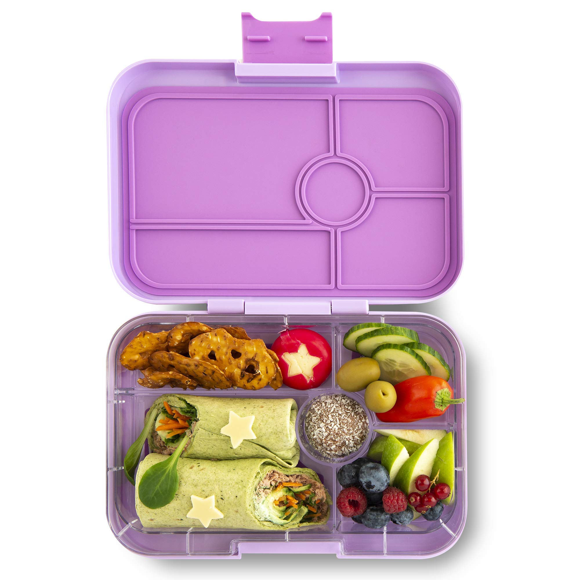 Yumbox TAPAS Larger Size (Lila Purple) 5 compartment Leakproof Bento lunch box for Pre-teens, Teens & Adults