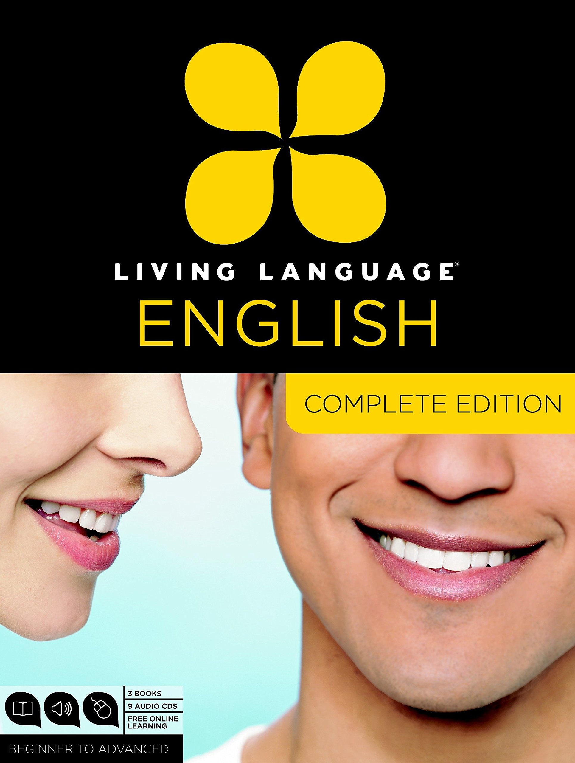 Living Language English, Complete Edition (ESL/ELL): Beginner through advanced course, including 3 coursebooks, 9 audio CDs, and free online learning by Living Language