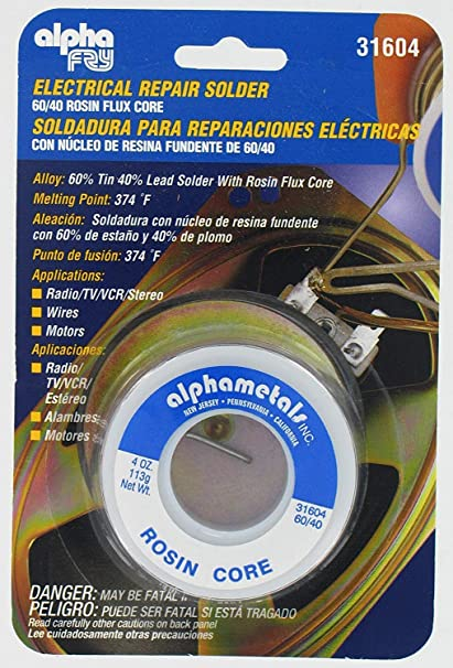 Alpha Fry AT-31604 60-40 Rosin Core Solder (4 Ounces) (Limited Edition) - - Amazon.com