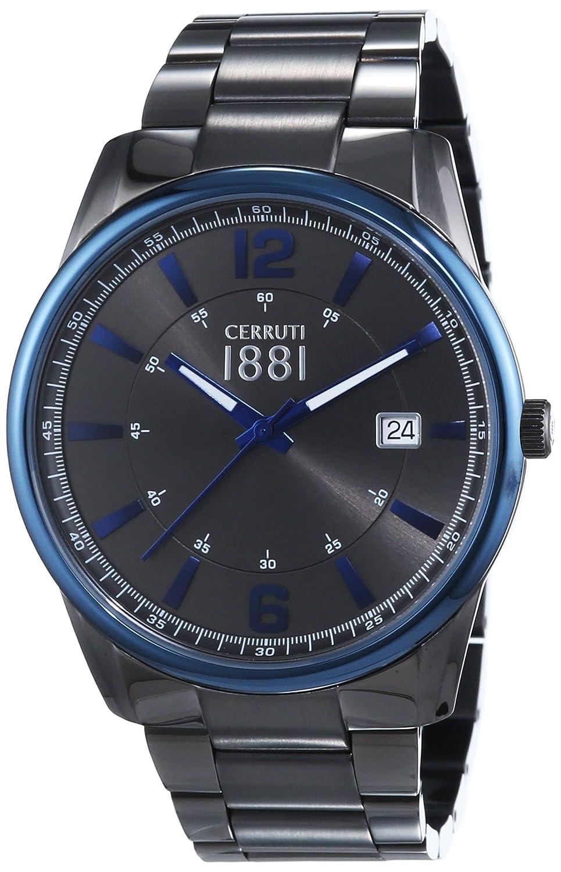 Cerruti 1881 Herren-Armbanduhr RAVELLO Analog Quarz Edelstahl beschichtet CRA103SUBL61MU