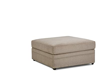 huge discount 5fd5c 2eede Simmons Upholstery 8560BR-09 Bellamy Putty Ottoman Beige