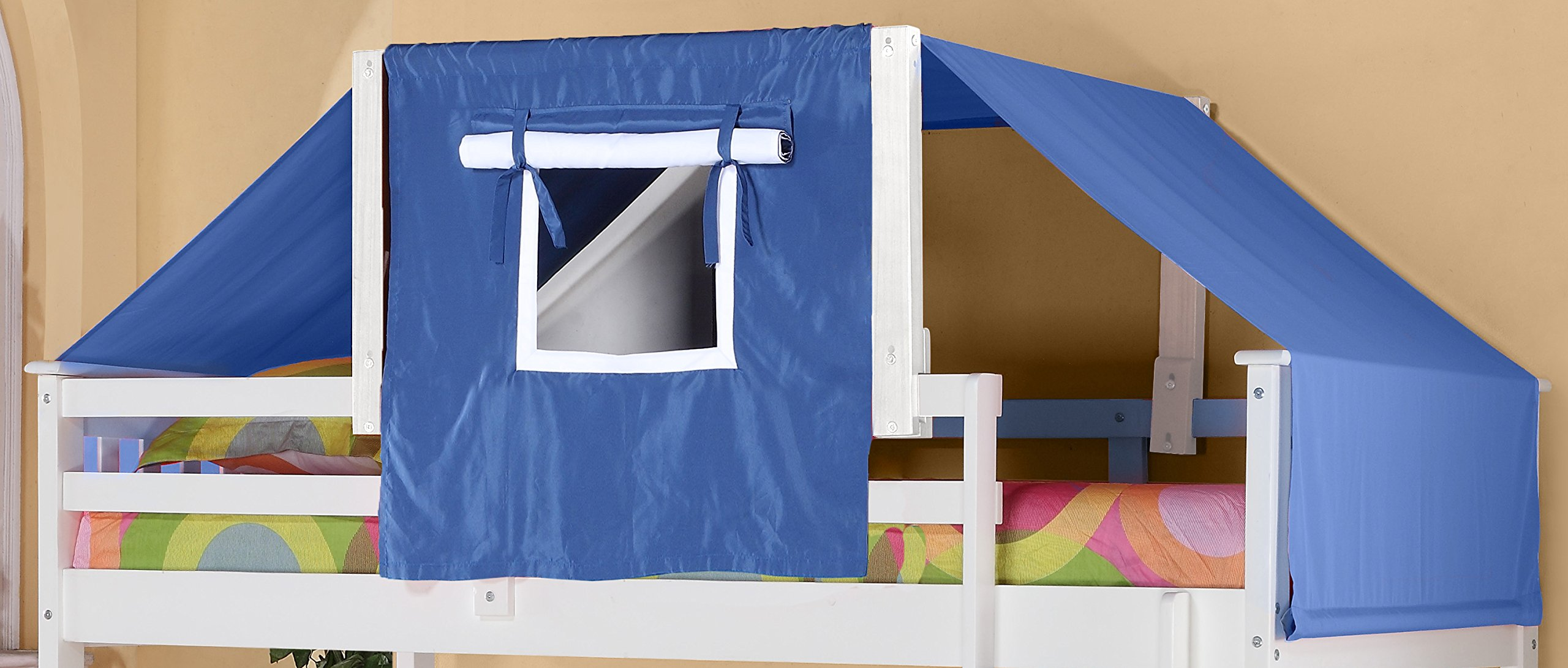 Donco Kids 755-W-Blue Tent Kit Accessory with Fabric, White/Blue