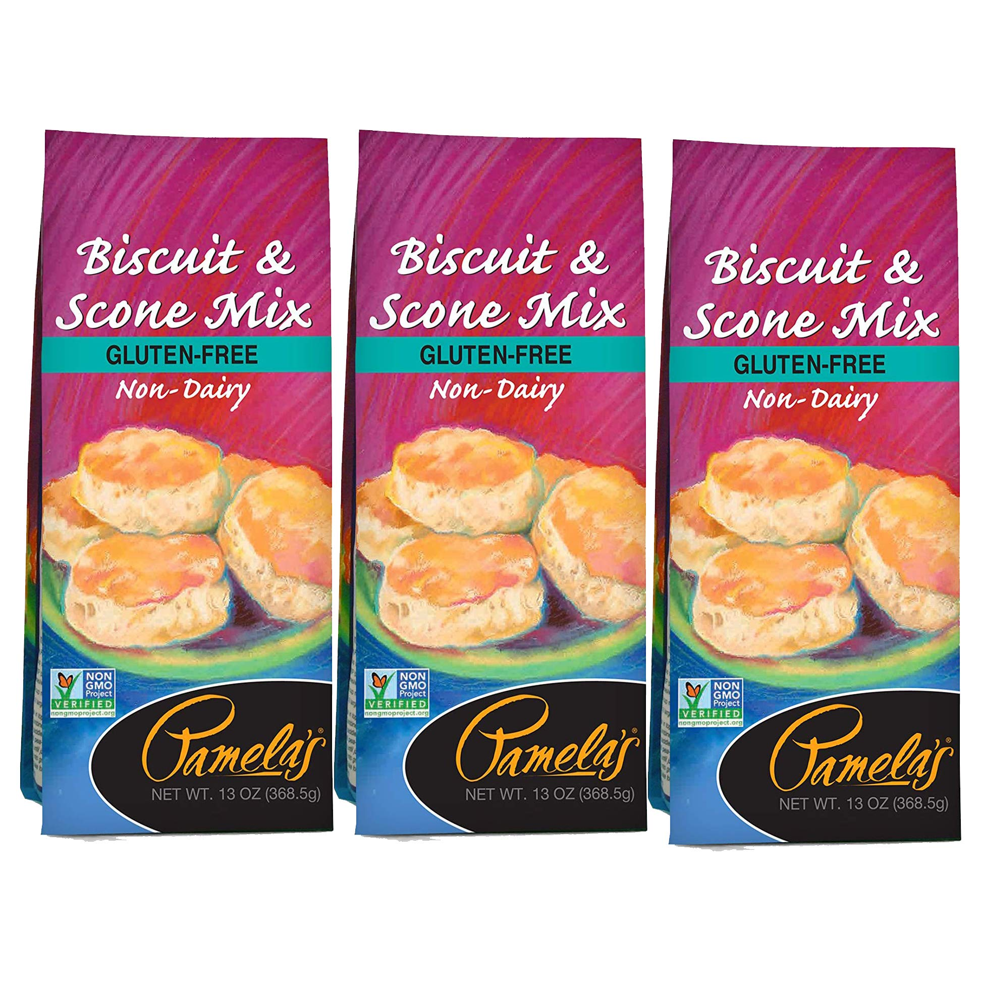 Pamela's Products Gluten Free Biscuit and Scone Mix, 13 Ounce (Pack - 3)