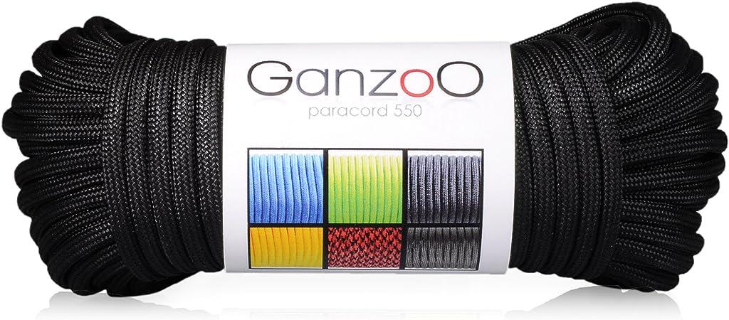 Leine Nylon-Seil Halsband Dunkel-Gold Paracord 550 Seil für Armband