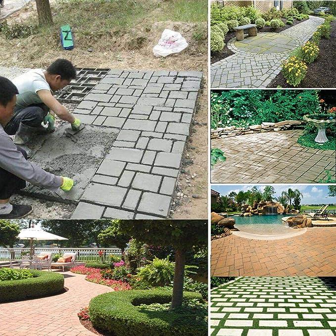 Geggur Molde para Hacer Caminatas, Reutilizable para hormigón, moldes para Hacer Caminos, Ladrillos de pavimentación para jardín, Patio: Amazon.es: Hogar