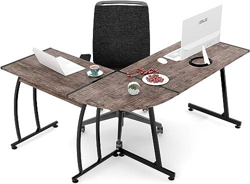 SMAGREHO L Shaped Desk Computer Gaming Desk 57.8