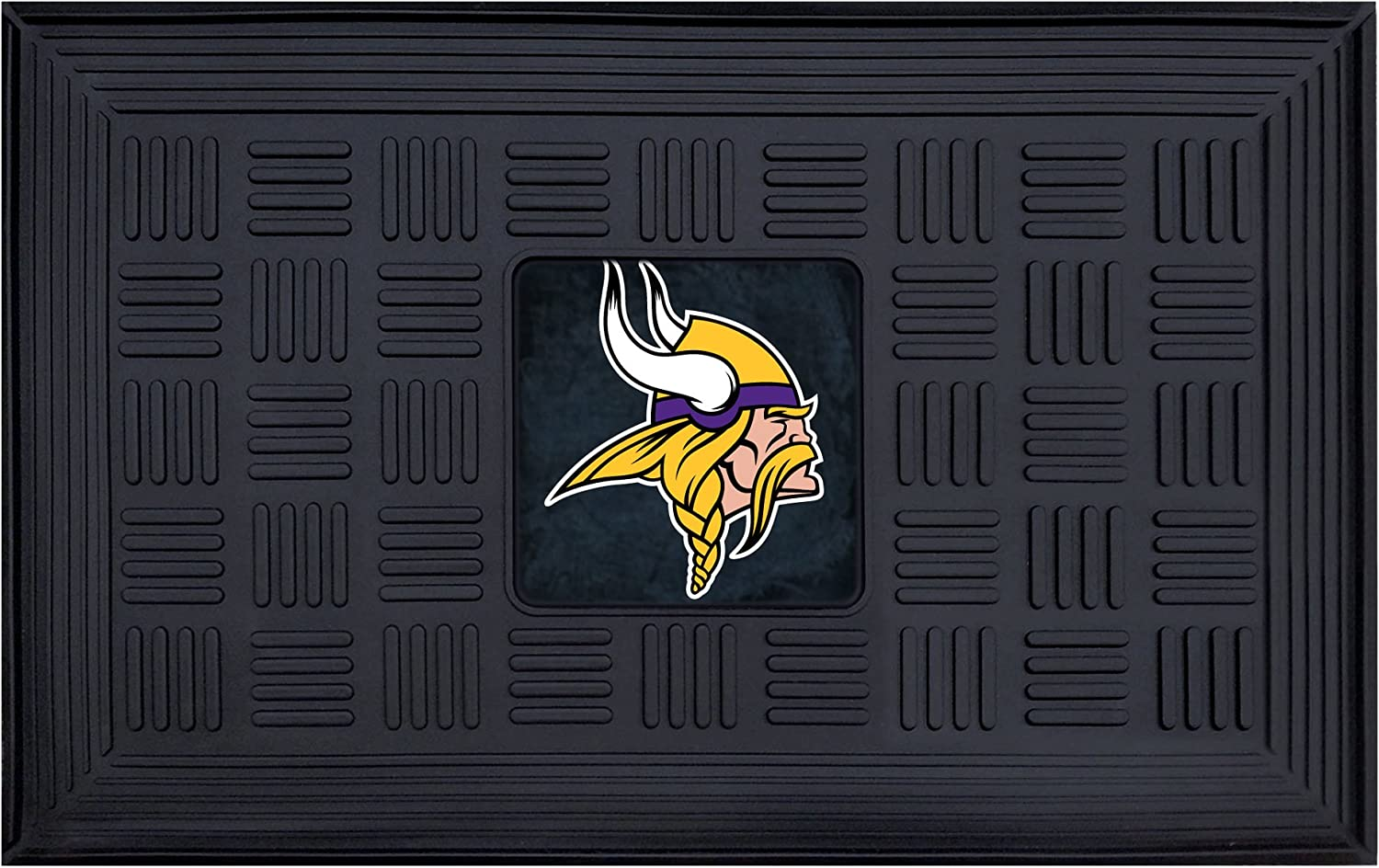 FANMATS 19950 Team Color 18 x 30 Crumb Rubber Minnesota Vikings Door Mat