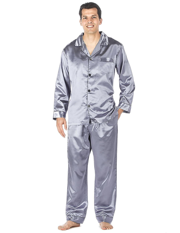 Noble Mount Mens Premium Satin Pajama Sleepwear Set nmt_mn_pjSet_stn