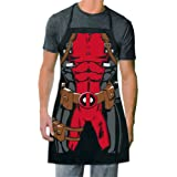 ICUP Marvel - Deadpool Be The Character  Adult Size 100% Cotton Adjustable Black Apron