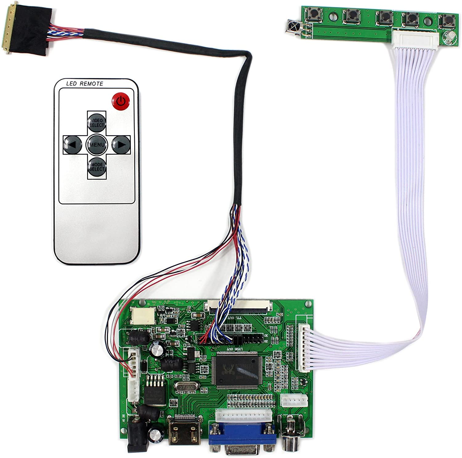 A2 TLA2 1366x768 TL HDMI//DVI//VGA LCD Lvds Monitor Controller Kit for LP140WH2
