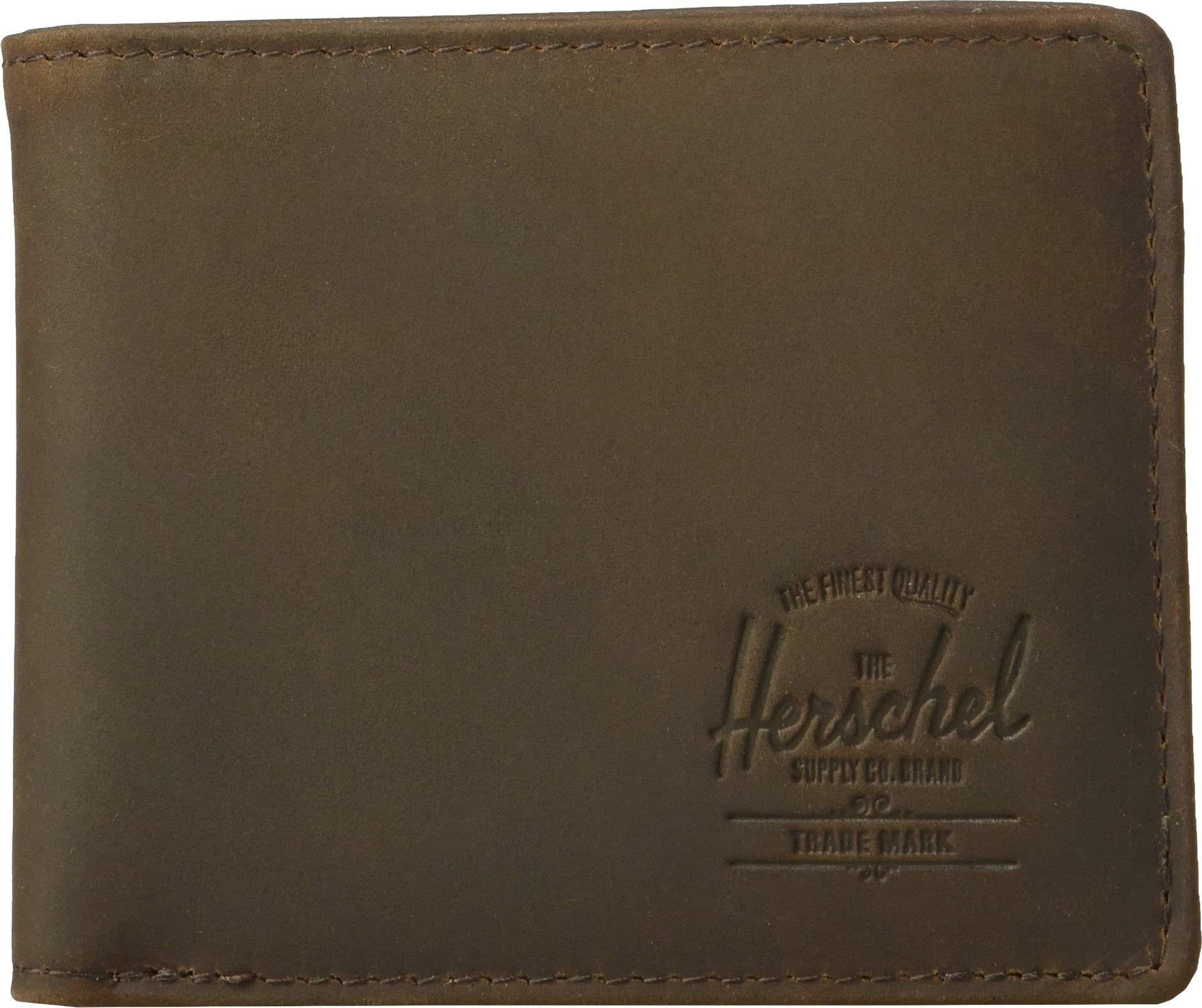 Herschel Unisex-Adult's Hank Leather RFID Wallet, nubuck brown, One Size by Herschel