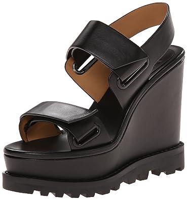 Marc by Marc Jacobs compensées Escarpins Chaussures Sandales Femme Cuir Noir  EU 40.5 M9000099 14cea4eaaa6