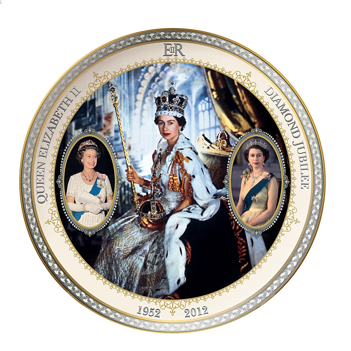 Collector Plate: Queen Elizabeth II Diamond Jubilee by The Bradford Exchange by Bradford Exchange
