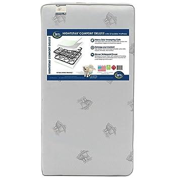 Amazon.com: Serta Nightstar Confort Deluxe colchón de cuna y ...
