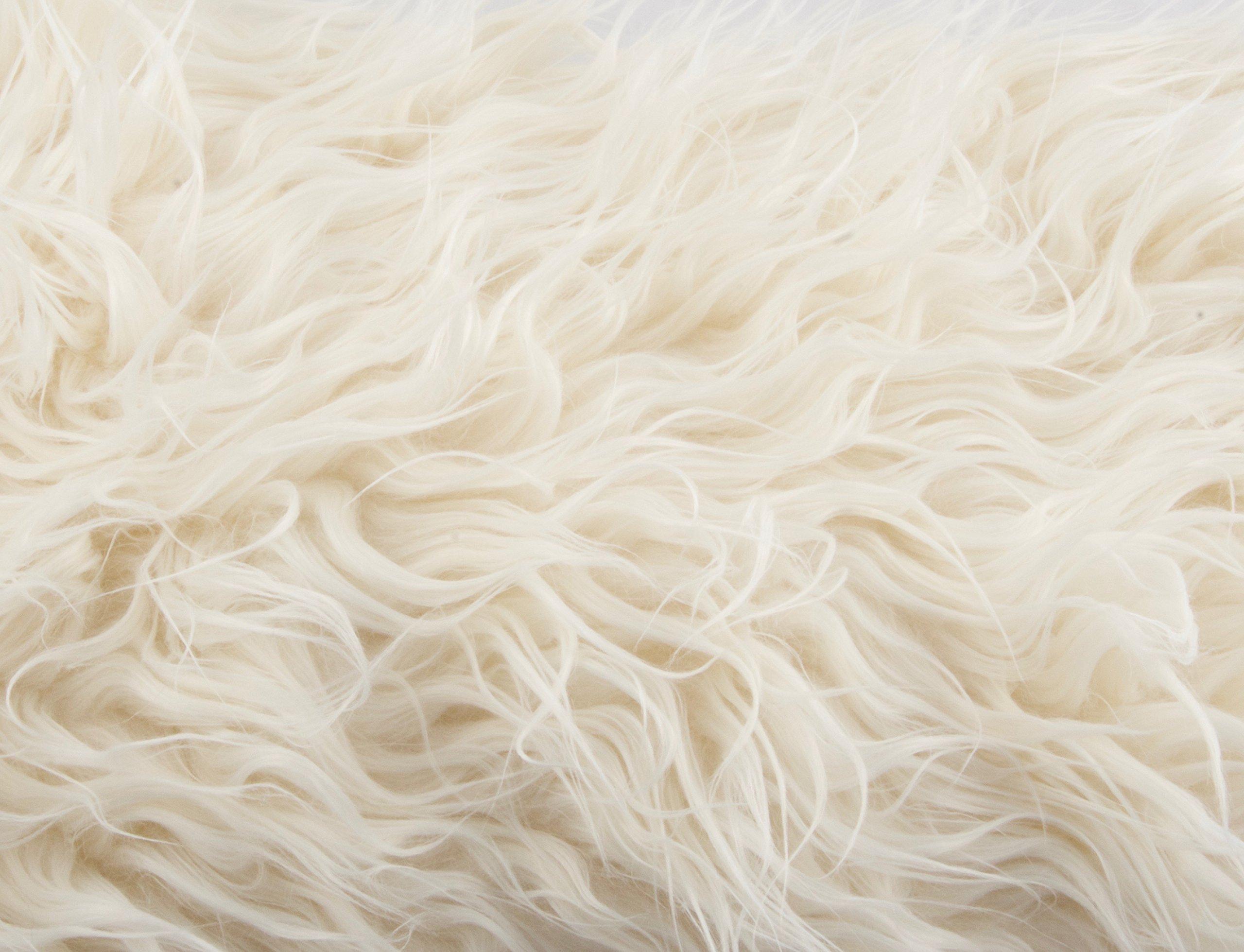 Camera Photo Floor Prop Faux Fur Artificial Fur, Newborn Baby Photography Props, Basket Stuffer Blanket - Baby Props, Basket Fabric (Ivory Fur)